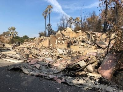 Destruction from Napa fires